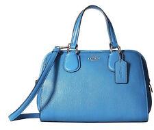 Coach Mini Nolita Azure Pebbled Leather Satchel Bag 33735