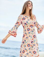 New Boden Carmen Dress UK 18 R (US 14 EU 44 46) Seashell Tropical Floral