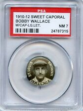 1910-12 Sweet Caporal Pins P2  Bobby Wallace LL w/cap HOF StL Browns  PSA  7  NM