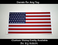 Police Car Replacement Decal Stickers fits Little Tikes Cozy Coupe American Flag