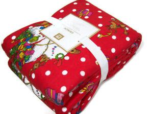 Pottery Barn Teen Polka Dot Christmas The Grinch Flannel TWIN XL Sheet Set New