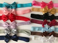 Baby Girls Tiny 6cm Bow Headband Soft Elastic Band Variety Hair Accessories +Lot