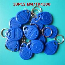 10Pcs/lot 125khz RFID EM4100 TK4100 Key Fobs Token Tags Keyfobs Keychain ID Card