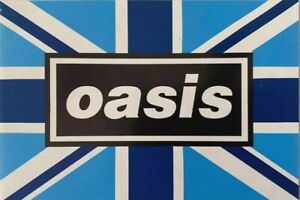 OASIS -  BLUE FLAG - OASIS STICKER - circa 1996 - BRIT POP