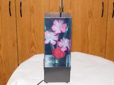 Vintage 1980's Flower Floral Color Changing Fiber Optic Lamp