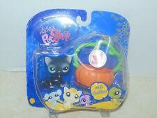 Hasbro Littlest Pet Shop #994 Cuddliest Black Cat And Pumpkin Basket HALLOWEEN