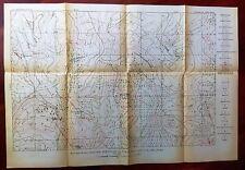 1919 Oklahoma USGS Oil & Gas Survey Map Midland Valley Railroad Minnehoma Dome
