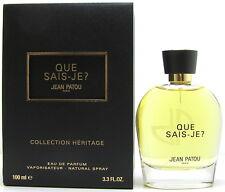 JEAN PATOU Que Sais Je Collection Heritage 100 ml EDP Spray