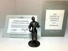 1974 Franklin Mint 'Pewter Figurines - The Silversmith - People of Colonial'