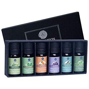 Lagunamoon Essential Oils Top 6 Gift Set Pure Essential Oils for Diffuser,