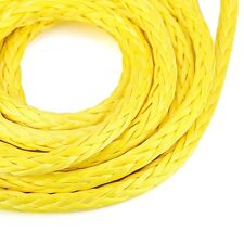 "New 1/4"" X 96"" Synthetic Winch Cable Rope 7000LBs Sheath Yelllow UHMWPE Material"