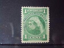 CANADA NEWFOUNDLAND 1 CENT 1897-1901 GREEN  STAMP