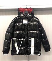 Mens Valentino X Moncler Black Logo Padded Down Feather jacket coat £2400 4 XL