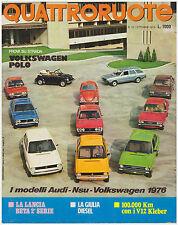QUATTRORUOTE 10/1975 VOLKSWAGEN POLO – BUGATTI ROYALE – VOLVO 244 DL