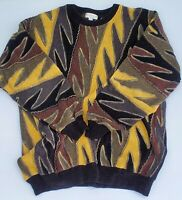 Vintage Norm Thompson TUNDRA Muticolor Men's Cosby Coogi Style Sweater Size XXL
