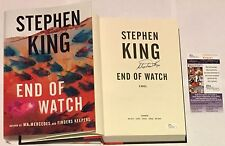STEPHEN KING SIGNED NEWEST HORROR AUTHOR END OF WATCH HARD COVER BOOK 2016 JSA