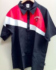 JIM BEAM AUTHENTIC MEN'S RED & WHITE SPLICED BLACK PIT SHIRT ($44.99rrp) SMALL