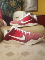 Nike Kobe 11 Elite Low Red Horse Mens Size 16 Red white Basketball shoes