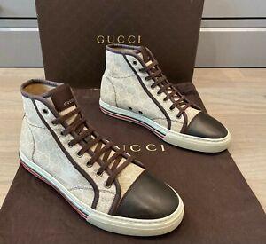 Gucci Men's GG Supreme Guccissima High Top Sneakers Sz 8 G =  US 9