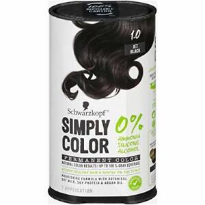 Schwarzkopf Simply Color, Permanent Color, 1.0, Jet Black, 1 Application