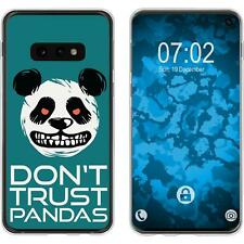 Case für Samsung Galaxy S10e Silikon-Hülle Crazy Animals Panda M2 Cover