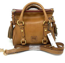 New~Dooney & Bourke Florentine Leather Micro Satchel~Natural