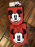 DISNEY Mickey Minnie Mouse Kitchen Oven Mitt Red 2 Pack NEW