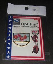 USPS 1986 Eyeglass Holder Lapel Pin Love You Mother 22 cent Stamp byOptiPin