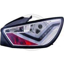 Back Rear Tail Lights Pair Set LED Clear Chrome For Seat Ibiza 08-12