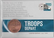 Australia Stamps PNC 2014 WWI Medallion Cover - ANZAC Troops Depart 1793/2000