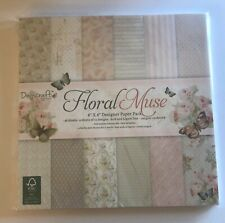 Dovecraft Floral Muse 8x8 Designer Paper Pack Cardstock 48 Sheets