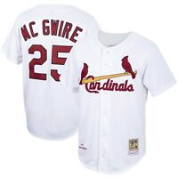 St Louis Cardinals Mark McGwire #25 Mitchell & Ness White 1998 Authentic Jersey