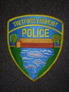 THETFORD, VERMONT POLICE - PATCH - COVERED BRIDGE