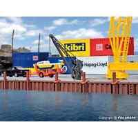 KIBRI 38528 1/87 HO DECORS SET ACCESOIRES POUR PONTONS D'ACOSTAGE AVEC GRUE H0