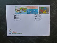2016 LUXEMBOURG COMMEMORATIONS SET OF 3 STAMPS FDC FIRST DAY COVER