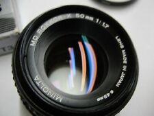 Minolta MD Rokkor -X 50mm F1:1.7 Lens - Excellent - NR!