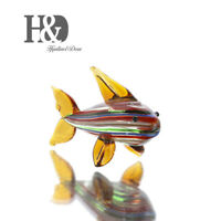 Hand Blown Glass Ornament Cute Mini Animals Art Figurine Collection Home Decor