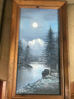 """Vintage Chapman """"A River And Landscape Scene"""" Oil Painting - Signed And Framed"""