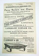 1902 Rochester New York Advertisement Schwikert Billiard Table Monroe Optical