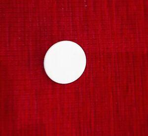 Button 2 hole white plastic
