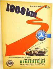 30. August 1953 ADAC 1000 km WM Mercedes Benz Nürburgring PROGRAMMHEFT VII03 å *