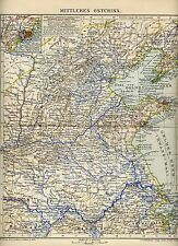 1898= CHINA CENTRO ORIENTALE= Antica MAPPA= OLD MAP