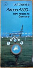 LUFTHANSA AIRLINES A300 PROMO BROCHURE 1970s