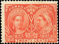 Canada Mint H F Scott #59 20c 1897 Diamond Jubilee Issue Stamp