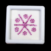 95 Pcs Natural Pink Sapphire 1.5mm Round Cut Sparkling Unheated Gems Sri Lanka