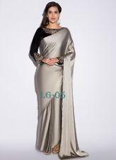 Indian Pakistani Designer Bollywood Steeley grey & Black  Saree