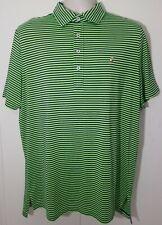 RLX RALPH LAUREN Mens L Golf Polo Shirt Green Striped EUC