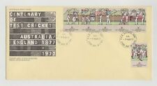 CENTENARY OF CRICKET AUST/ENGLAND 1877-1977  FIRST DAY COVER 09/03/1977  MINT
