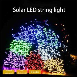 12M 100 LED Solar String Lights Outdoor Garden Party Xmas Fairy Wedding Lamp USA