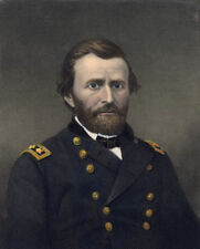 General ULYSSES S GRANT hand colored 1866 engraving Brady dar Whitechurch sculp